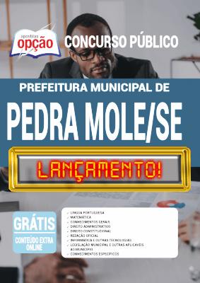 Apostila Concurso Prefeitura de Pedra Mole SE 2020 PDF e Impressa
