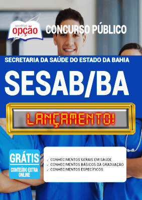 Apostila Concurso SESAB BA 2020 PDF e Impressa SESAB Bahia