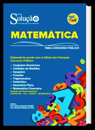 Apostila de Matemática para Concurso PDF e Impressa Editora Solução