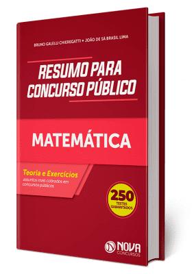 Apostila de Matemática para Concurso Impressa Nova Concursos