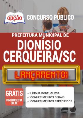 Apostila Prefeitura de Dionísio Cerqueira SC 2020 PDF e Impressa