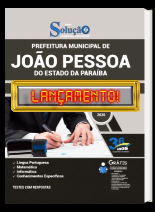 Apostila Prefeitura de João Pessoa 2020 PDF e Impressa