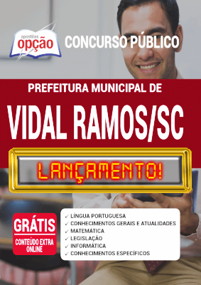 Apostila Prefeitura de Vidal Ramos SC 2020 PDF e Impressa