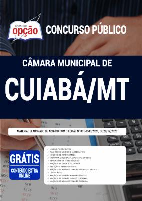 Apostila Concurso Câmara de Cuiabá 2021 PDF e Impressa Editora Opção