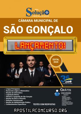 Apostila Câmara de São Gonçalo RJ 2021 PDF e Impressa Editora Solução