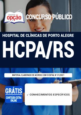 Apostila Concurso Hospital de Clínicas 2021 PDF e Impressa Editora Opção