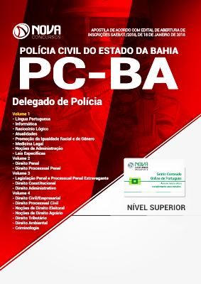 Apostila Concurso PC BA 2021 Grátis Cursos Online Delegado de Polícia