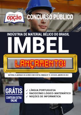 Apostila IMBEL 2021 Impressa e PDF Grátis Conteúdo Online Editora Opção
