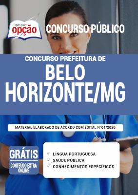 Apostila Prefeitura de Belo Horizonte 2021 PDF e Impressa Editora Opção