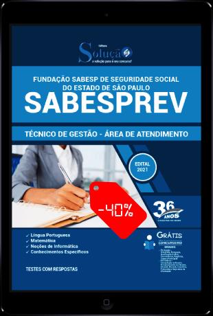 Apostila Concurso SABESPREV 2021 PDF Download Desconto