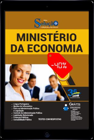 Apostila Ministério da Economia 2021 PDF Download Desconto