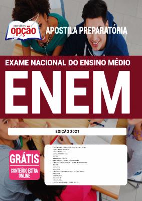 Apostila para estudar para o Enem 2021 PDF e Impressa Editora Opção