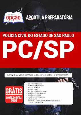 Apostila Polícia Civil SP 2021 Editora Opção
