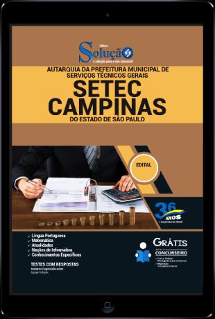 Apostila Setec Campinas 2021 PDF Download Desconto Exclusivo