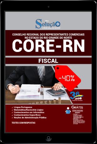Apostila Concurso CORE RN 2021 PDF Download Desconto Fiscal
