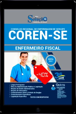 Apostila Concurso COREN SE 2021 PDF Download Desconto Enfermeiro Fiscal