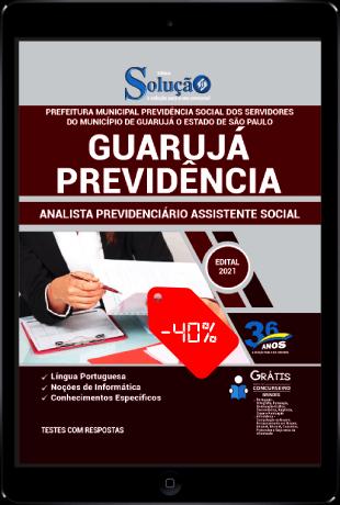 Apostila Concurso Guarujá Previdência 2021 PDF Desconto Analista Previdenciário Assistente Social