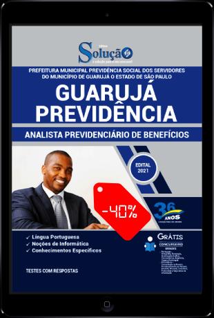 Apostila Concurso Guarujá Previdência 2021 PDF Download Desconto Analista Previdenciário de Benefícios