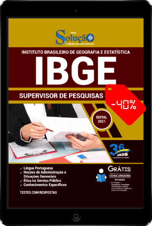 Apostila Concurso IBGE 2021 PDF Supervisor de Pesquisas