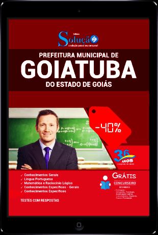 Apostila Concurso Prefeitura de Goiatuba 2021 PDF Desconto