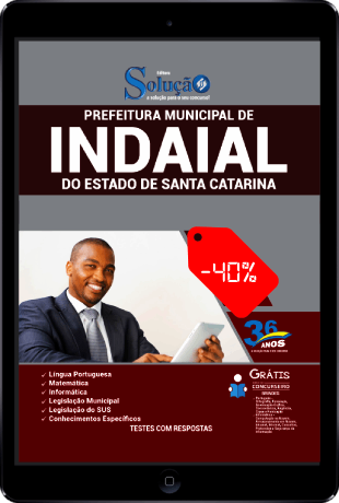 Apostila Concurso Prefeitura de Indaial 2021 PDF Desconto
