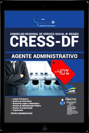 Apostila Concurso CRESS DF 2021 PDF Download Agente Administrativo