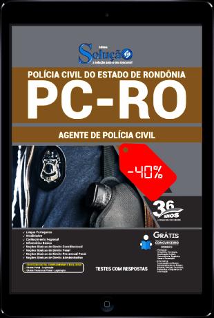 Apostila Concurso PC RO 2021 PDF Grátis Agente de Polícia PC RO