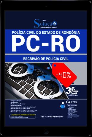 Apostila Concurso PC RO 2021 PDF Grátis Escrivão de Polícia PC RO