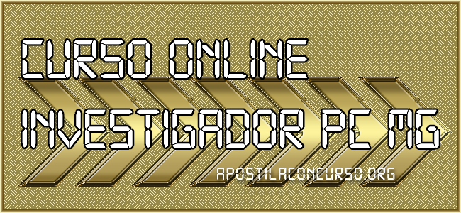 Curso Online Investigador PC MG 2021