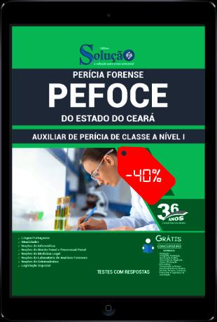 Apostila Concurso PEFOCE 2021 PDF Download Auxiliar de Perícia