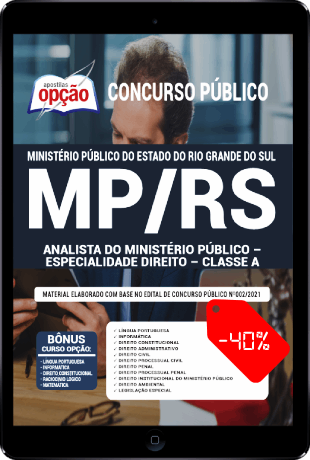 Apostila MP RS 2021 PDF Analista MP RS 2021