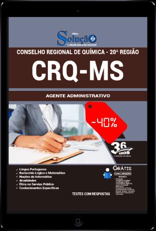 Apostila Conselho Regional de Química 20ª Região 2021 PDF Agente Administrativo