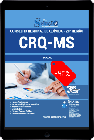 Apostila Conselho Regional de Química 20ª Região 2021 PDF Fiscal