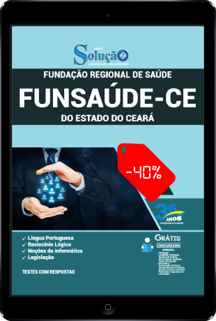 Apostila Funsaúde Ceará 2021 PDF Concurso Funsaúde CE