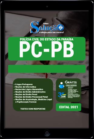 Apostila Concurso PC PB 2021 PDF Grátis Cursos Online