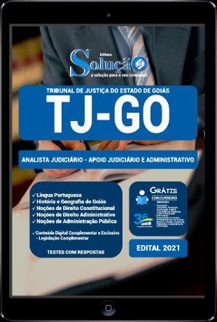 Apostila TJ GO 2021 PDF Grátis Analista Judiciário Área de Apoio Judiciário e Administrativo