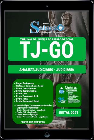 Apostila TJ GO 2021 PDF Grátis Analista Judiciário Área Judiciária