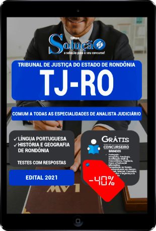 Apostila TJ RO 2021 PDF Download Concurso Analista Judiciário
