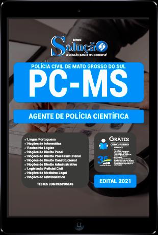 Apostila PC MS 2021 PDF Agente de Polícia